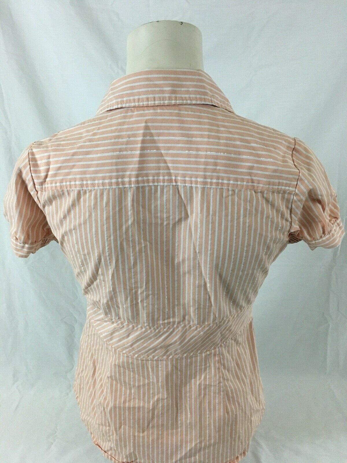 1980 vintage sophisticated buttoned blouse with embroidered collars and chest pocket by C/&A Total white