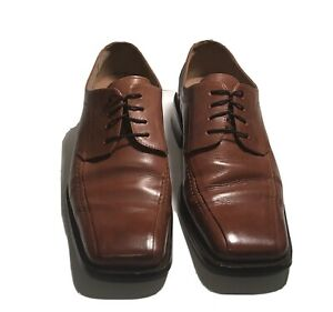 Stacy-Adams-Men-039-s-Brown-Leather-Oxford-Lace-up-Dress-Shoes-Size-10-5D