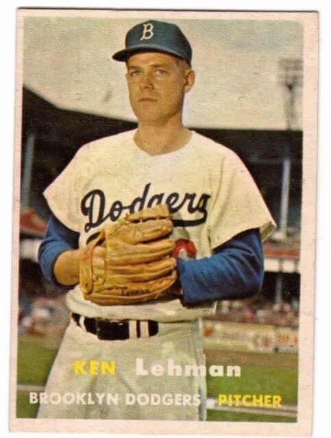 1957 Topps #366 Ken Lehman - Brooklyn Dodgers, Near Mint Condition'