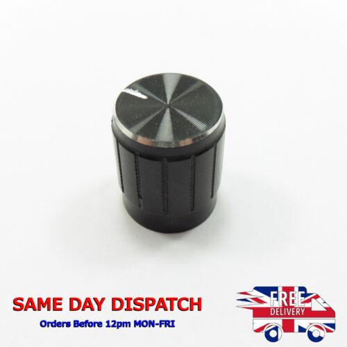 Perilla De Aluminio 6mm Negro Interruptor Potenciómetro Pote de control de volumen Hazlo tú mismo D72 moleteado
