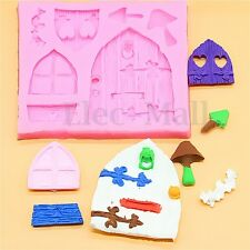 3D Fairy House Door Silicone Fondant Chocolate Cake Sugarcraft Mould Mold Tool