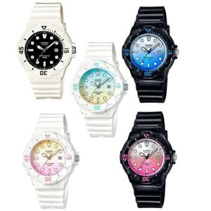 Casio-LRW-200H-Series-Black-White-Pink-Blue-Small-Women-039-s-Casual-Analog-Watch