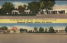 Deming NM Kingdom of the Sun Motel Linen Postcard
