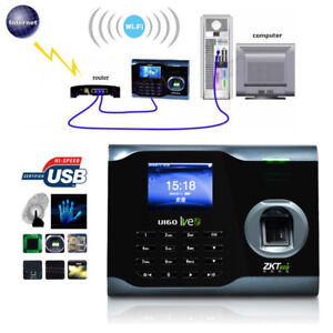Details about Biometric WIFI Employee Attendance Fingerprint Scanner  Clocking in Machine UK
