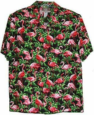 Rjc Made In Usa Men S Pink Flamingo Galore Aloha Shirt Ebay
