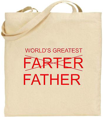 Weltweit Größte Furzie Vater Groß Baumwoll-tragetasche Lustiges Geschenk Tag Dad