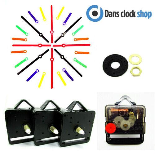 5 Packung Leise Supersweep Quartz Uhrwerk Mechanismus Mit Kunststoff Hände