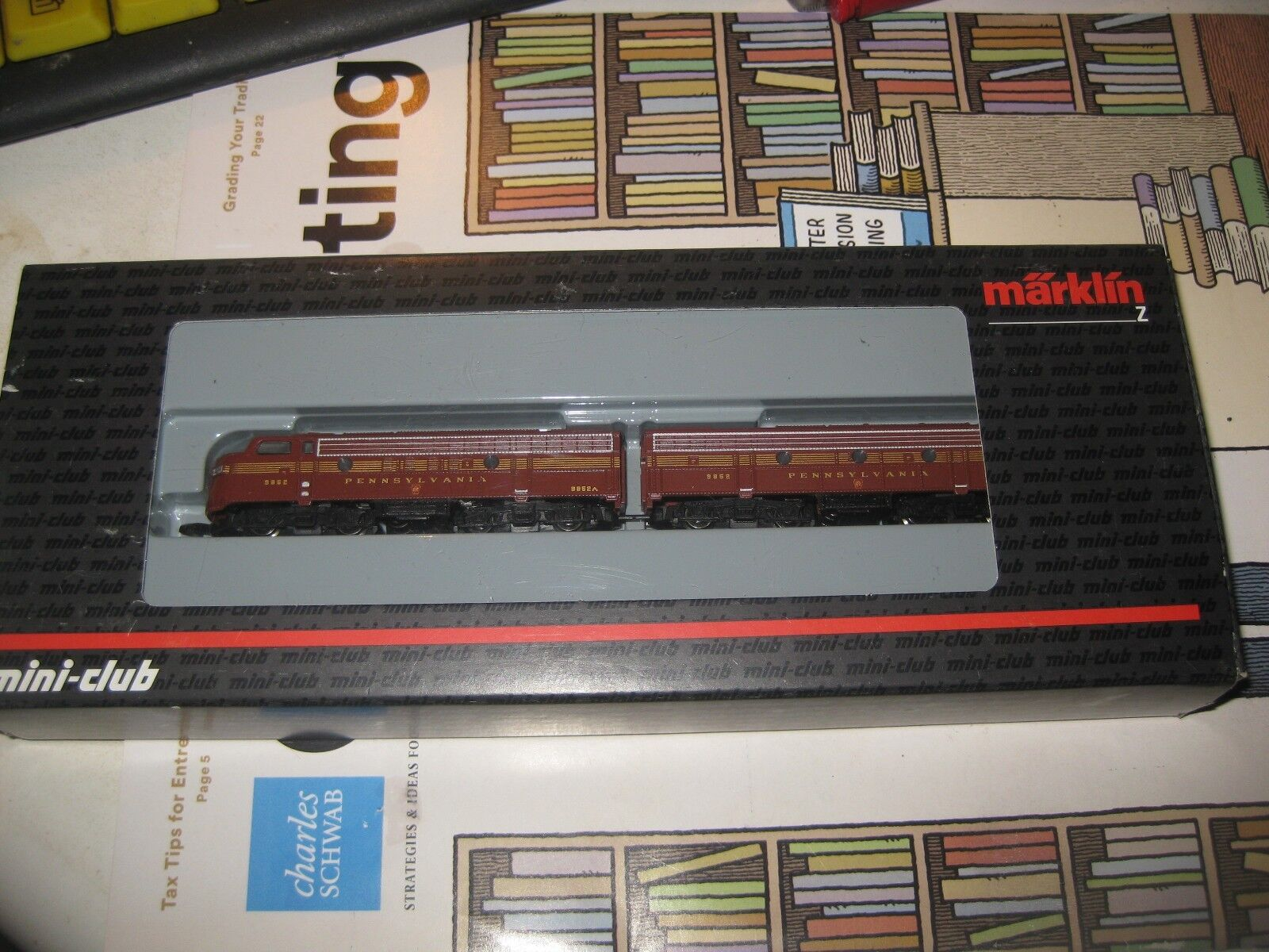 Marklin Z  88605 Pennsylvania Railroad Locomotora Conjunto Mini Club Excelente