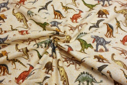 Nutex Lost World DINOSAUR Fossil Jurassic 100/% Cotton Patchwork Craft Fabric