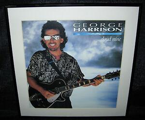 GEORGE-HARRISON-Cloud-Nine-Framed-Original-1987-U-S-034-In-Store-034-Promo-Flat