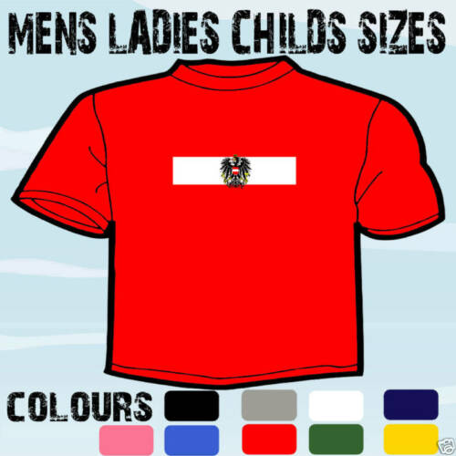 AUSTRIA AUSTRIAN FLAG EMBLEM T-SHIRT ALL SIZES