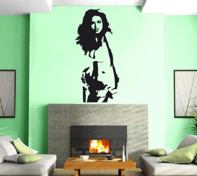 Sexy Hot Girl Woman Hair Spa Beauty Salon Wall Art Decor Vinyl Sticker z522