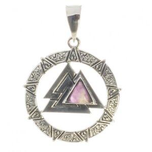 Wotansknoten Amethyst Anhänger Silber Symbol Schmuck - NEU