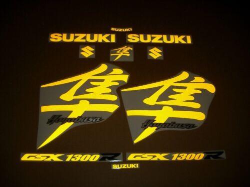 Hayabusa GSX1300R reflective yellow decals sticker graphics set glow in the dark