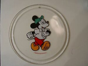 MICKY-MAUS-Sammel-Teller-aus-GLAS-24-5cm-original-WALT-DISNEY-PRODUCTION