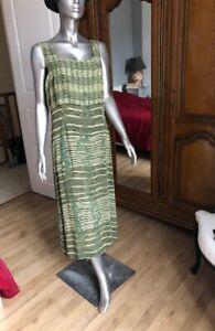 Robe longue en soie WEINBERG T44