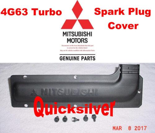 95 99 Mitsubishi Eclipse Eagle Talon 4g63 Turbo Spark Plug Cover /& Bolts NEW OEM