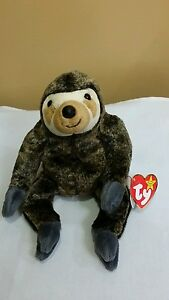 5ec0c3d9067 Ty Beanie Baby SLOWPOKE the SLOTH 1999 with Flat Tush Tag Mint ...