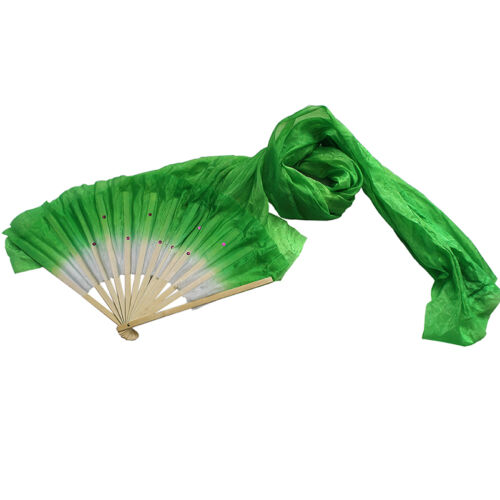 Hand Made Colorful Belly Dance Dancing Silk Bamboo Long Fans s 5 Colors  R.