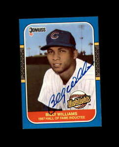 Billy-Williams-Hand-Signed-1987-Donruss-Highlights-Chicago-Cubs-Autograph