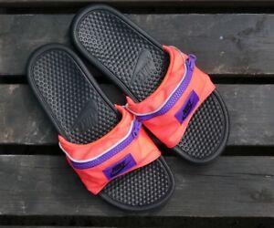9d1f17898131 Men s Nike Benassi JDI Fanny Pack Slides AO1037-600 Hyper Punch ...