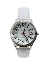 90e8f13a042 item 1 Urban Ladies Silver Diamante Large Numbers Dial White PU Leather  Strap Watch -Urban Ladies Silver Diamante Large Numbers Dial White PU  Leather Strap ...