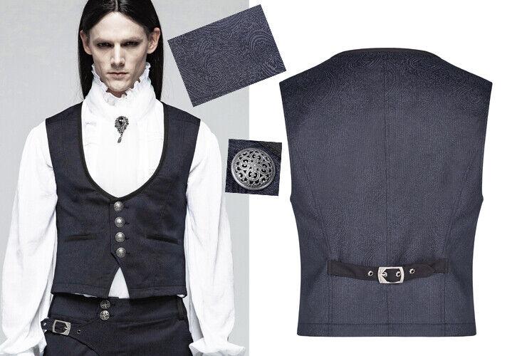 Gilet veste jacquard métallisé gothique dandy baroque victorien PunkRave Homme