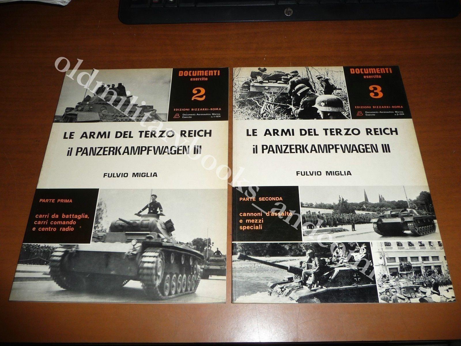 LE ARMI DEL TERZO REICH PANZERKAMPFWAGEN III FULVIO MIGLIA 2 VOLL 1974 CARRI