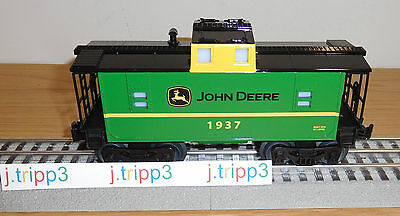 LIONEL JOHN DEERE GREEN CABOOSE O GAUGE TOY TRAIN CAR LIGHTED 6-83286 RAILROAD