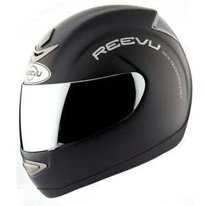 Reevu-RearView-MSX1-Motorcycle-Helmet-Black-Matte-casque-motocyclette-Retrovisor