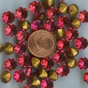 451139-12-GROS-STRASS-ANCIENS-FOND-CONIQUE-VIEUX-ROSE-7-2mm