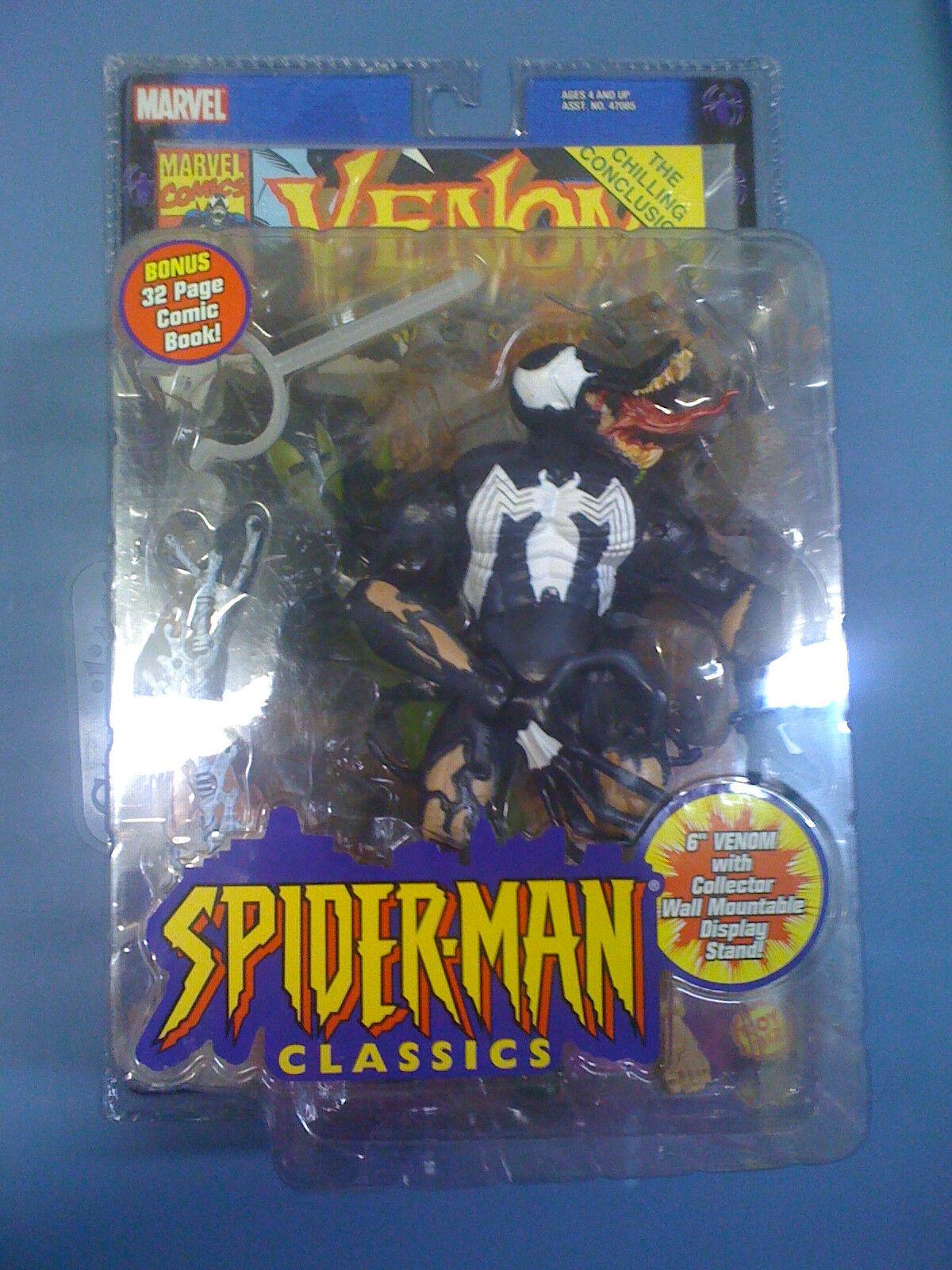 Marvel SMC Spiderman Classics 6  Phasing Venom Figure NEW FREE SHIP US toybiz