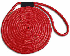 """5/8"""" x 40' Double Braid Nylon Red Dock Lines - Made in USA"""