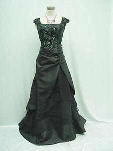 Cherlone Black Ballgown Wedding Evening Bridesmaid Full Length Formal Dress 12
