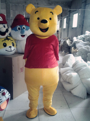 Winnie The Pooh Mascots Costume sutis Clothing Birthday Party  Dress Adults size