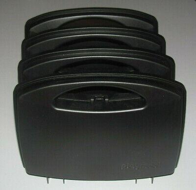 Playmobil Lot 4 Boite Malette de Rangement en Plastique Noir 25 x 18 cm