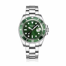 BLENHEIM LONDON® Men's Navigator Luminous Sapphire Glass Green Dial Diver Watch