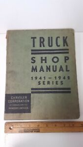 1937-47-Chrysler-Truck-Original-Workshop-Manual-Good-Condition-CDN