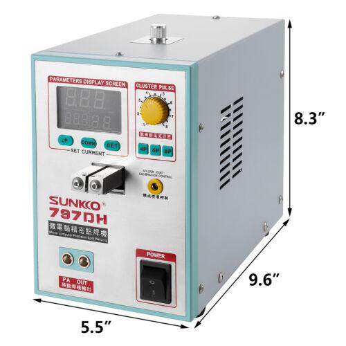 SUNKKO 797DH Pulse Spot Welder 18650 Battery Soldering Welding Machine 110V//220V