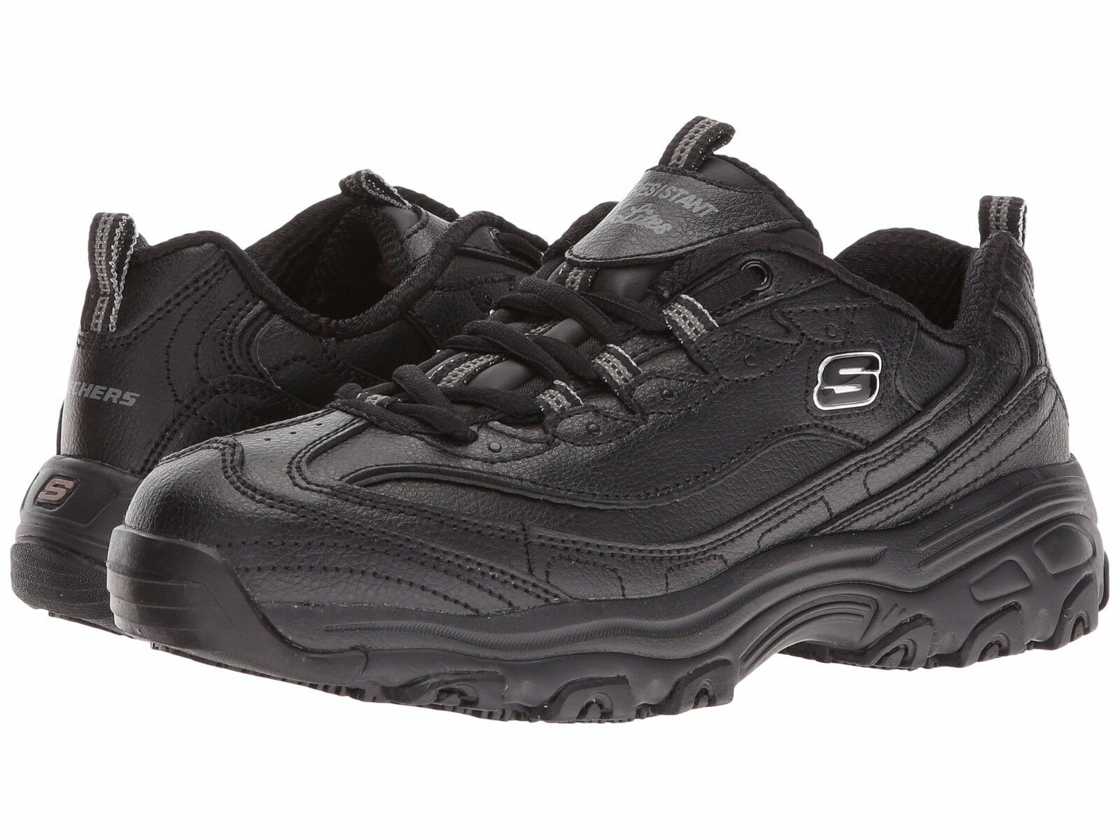punto vendita Skechers Skechers Skechers DLITES SR-MARBLETON donna nero 76605 BLK Slip Resistant Work scarpe  buona qualità