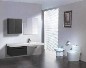 Mobile bagno arredo bagno completo pensile 150 cm lavabo specchio rubinetteria ebay - Pensile bagno specchio ...