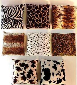 cushion cover fur imitation africa safari 35x35 40x40 50x50 40x60 or 60x60 cm ebay