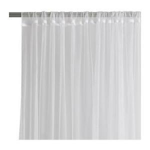 Perfect Image Is Loading New IKEA Sheer White LILL Curtains 4Sets 8Panels