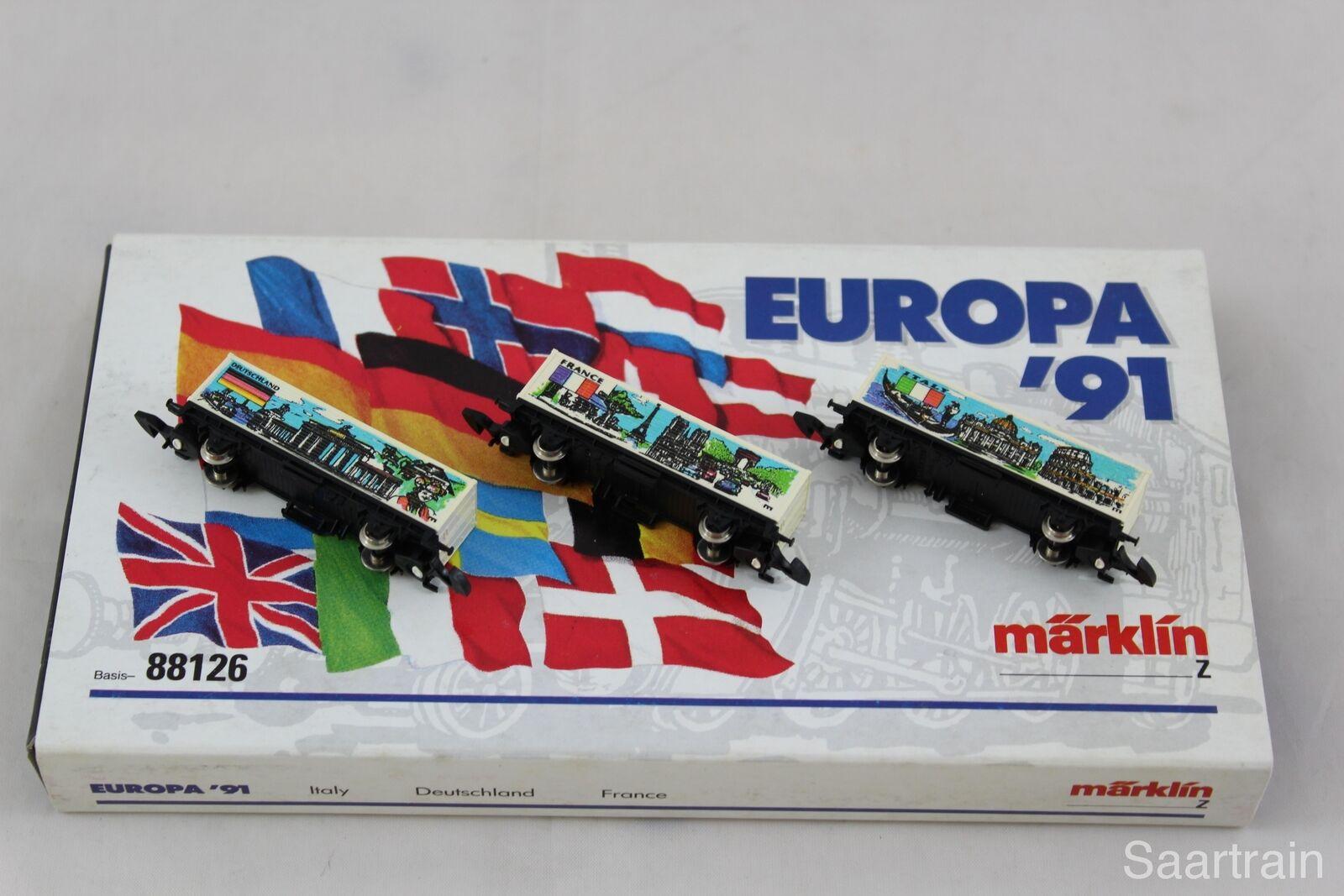 marklin 8615 Europa Auto Set 3 3 3 diversi container autorello con OVP 3e30cb