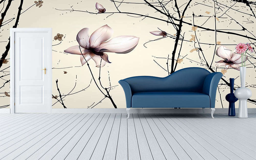 Rain Was Flowers 3D Full Wall Mural Photo Wallpaper Printing Home Kids Decor