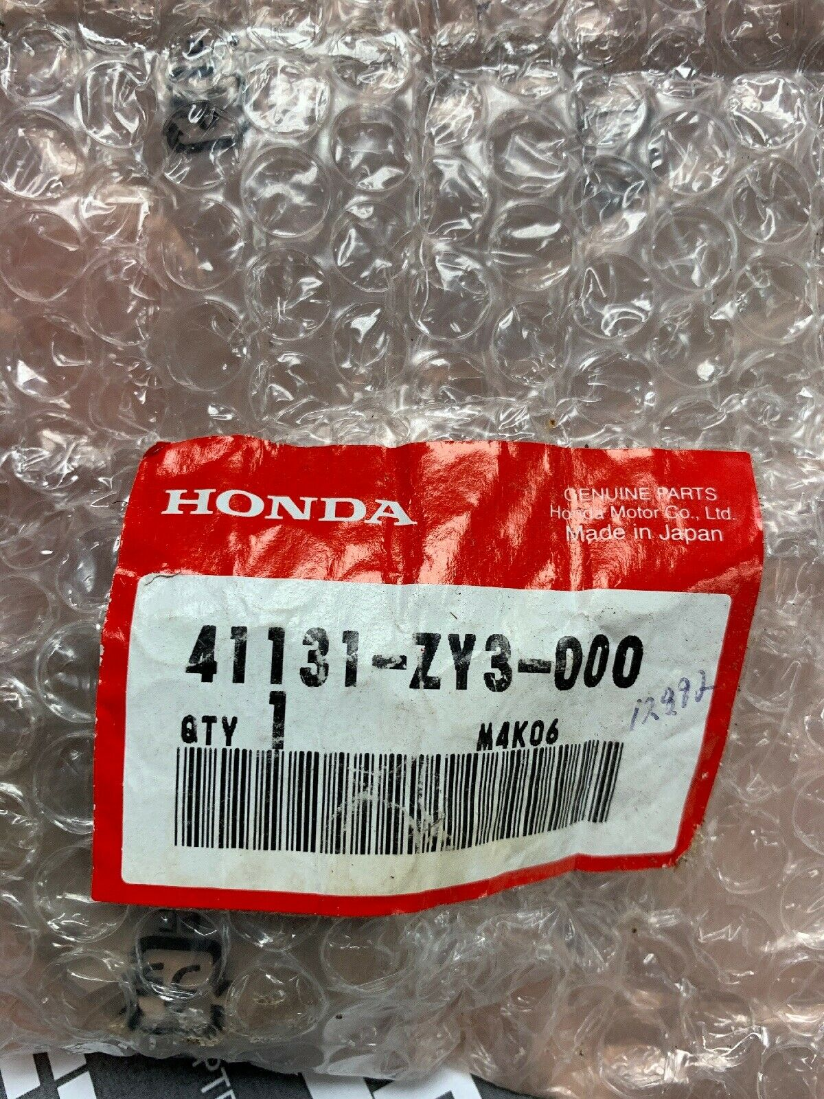 Honda 41131-ZY3-000 41131-ZY3-000 Gear, Piñón; nuevo   41131-ZY3-A00