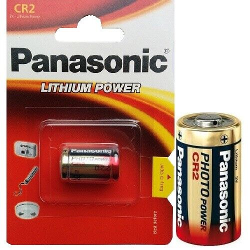 4x Panasonic CR2 Foto Batterien Lithium Power Photobatterie 3V Blister MHD 2026