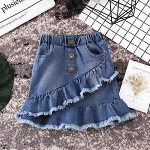 7f245eb02b US Seller Toddler Kids Girls Blue Denim Mini Skirt Short Dress Jean ...