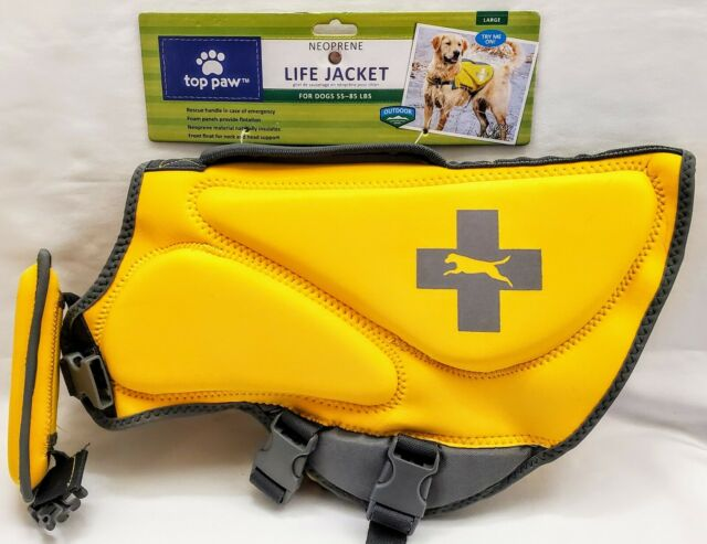 Top Paw Neoprene dog Life Jacket Vest Yellow Size L for 55 to 85 lb MSRP $49.95