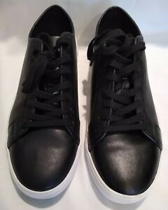 aldo black leather low top lace up casual walking boat